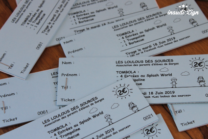 tickets de tombolas kermesse
